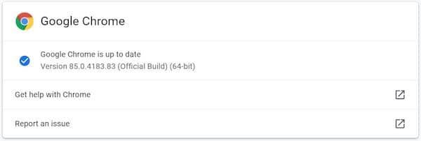 Chrome 85 lançado com correções de segurança e suporte para AVIF