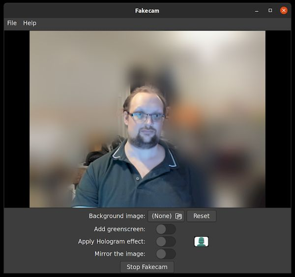 Como instalar o modificador de fundo fakecam no Linux via Snap