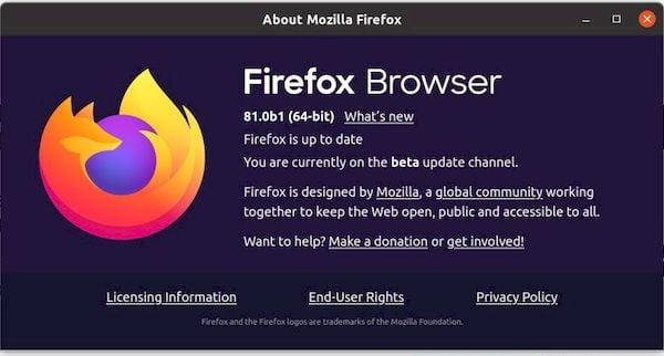 Firefox 81 beta lançado com aceleração de GPU habilitada por padrão no Linux