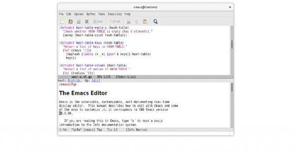 GNU Emacs 27.1 lançado com suporte nativo para análise JSON, guias e muito mais