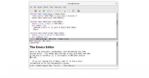 GNU Emacs 27.1 lançado com suporte nativo para análise JSON, guias e muito mais