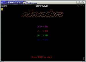 Como instalar o jogo nInvaders e se divertir no terminal