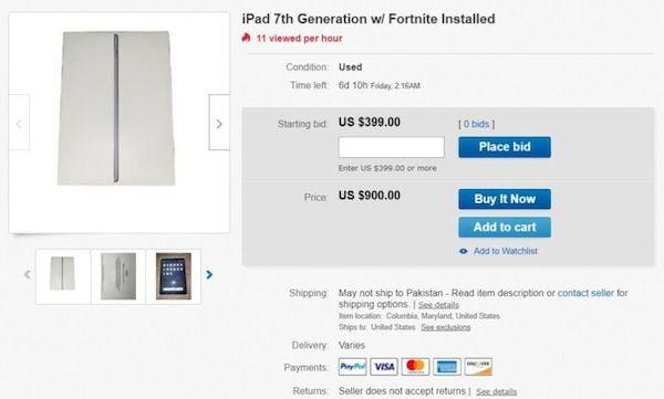 iPhones com Fortnite pré-instalado estão sendo vendidos por US$ 10.000 no eBay