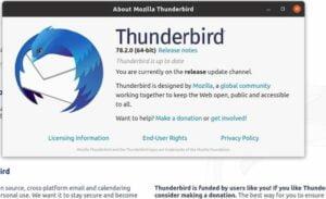Mozilla Thunderbird 78.2 lançado com mais melhorias no OpenPGP