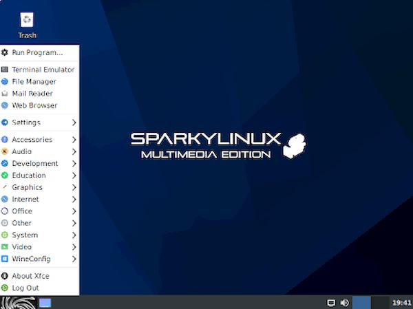 SparkyLinux 2020.08 GameOver, Multimedia e Rescue Editions lançados