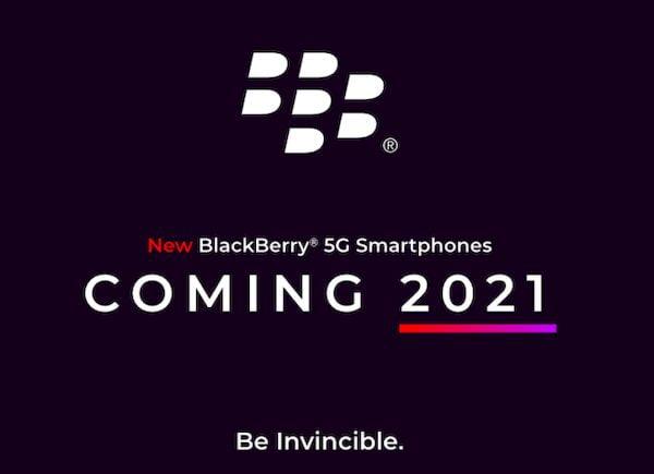 Telefones Android BlackBerry chegarão em 2021 com 5G e teclado físico