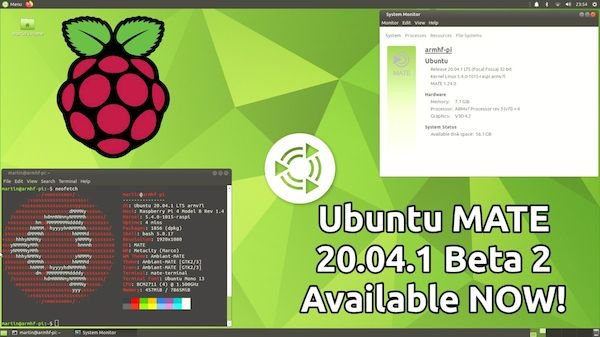 Ubuntu MATE 20.04.1 for Raspberry Pi beta 2 lançado