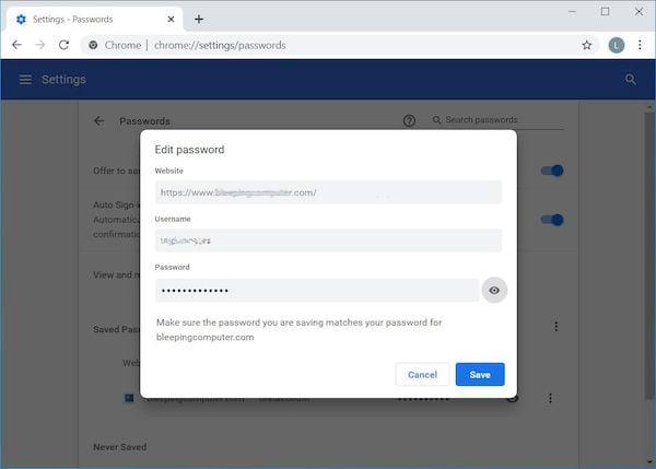 Chrome agora permite que você edite senhas salvas