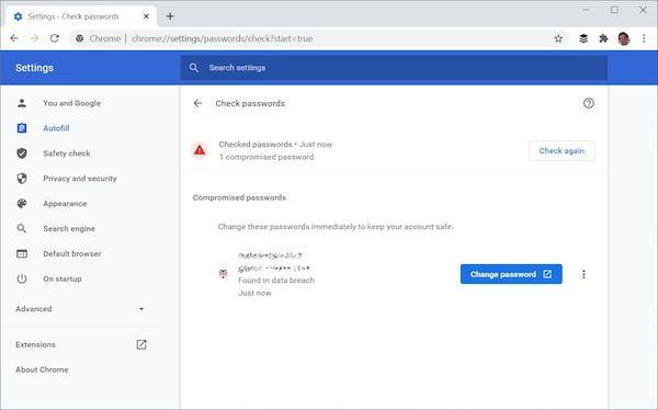 Chrome facilitará a redefinição de senhas comprometidas