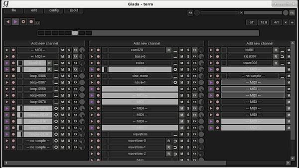Como instalar a ferramenta de áudio Giada no Linux via Flatpak