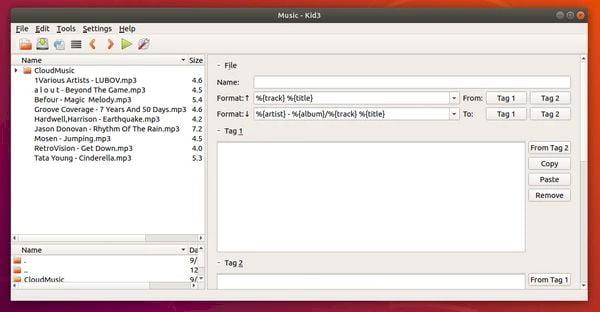 Como instalar o editor de tags de áudio Kid3 no Linux via Flatpak