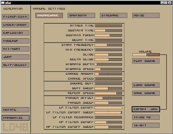 Como instalar o gerador de efeitos sonoros sfxr no Linux via Snap