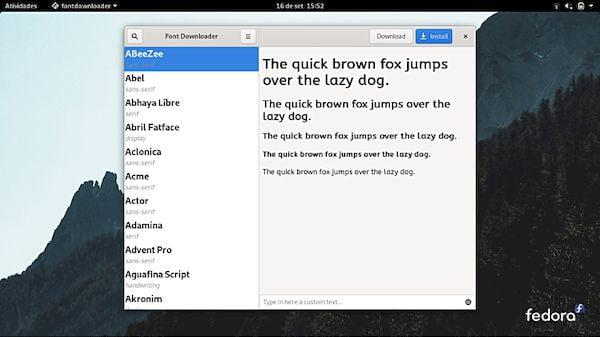 Como instalar o utilitário Font Downloader no Linux via Flatpak