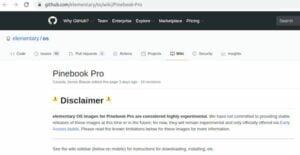 elementary OS recebeu suporte experimental para o Pinebook Pro