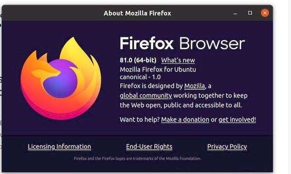 Firefox 81 já está disponível para download antes do lançamento