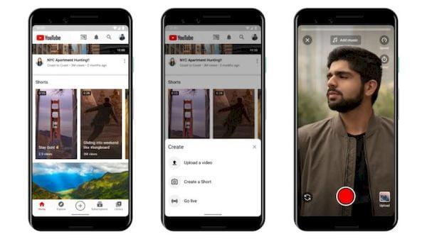 YouTube lançou o Shorts, um concorrente para o TikTok e Reels, exclusivamente na Índia