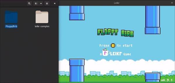 Como instalar o criador de jogos Leikr no Linux via Flatpak