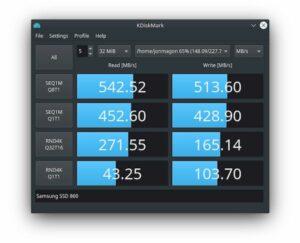 Como instalar o KDiskMark no Linux Ubuntu, Fedora, openSUSE e derivados