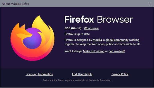 Firefox 82 lançado com aumentos de velocidade, bloqueio de download malicioso e mais