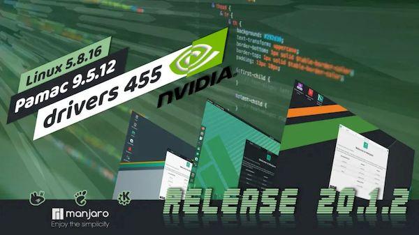 Manjaro 20.1.2 lançado com drivers NVIDIA 455 e a solução para BleedingTooth