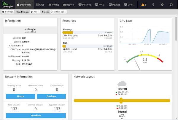 Untangle NG Firewall 16.0.1 lançado com o WireGuard VPN e atualizações