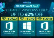 Novas ofertas em outubro: Windows 10 pro apenas € 7,4 em Godeal24.com