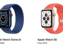 Apple Watch SE vs Série 6 – Qual é a diferença? Confira esse comparativo das especificações