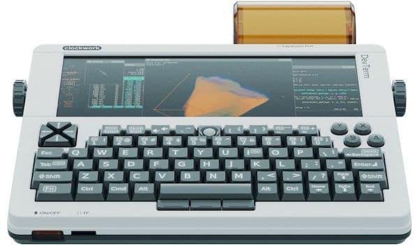 DevTerm, um terminal portátil de código aberto com design modular e retro