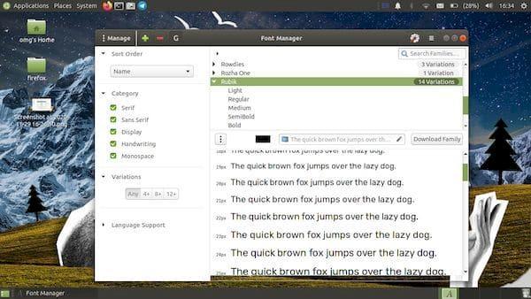 FontManager 0.8 lançado com integração de fontes do Google e mais