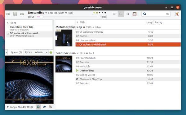 gmusicbrowser 1.1.16 lançado após mais de 5 anos sem atualizações