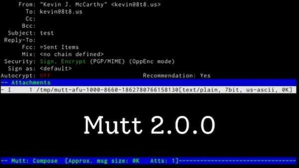 Mutt 2 lançado com suporte literal de domínio e mais