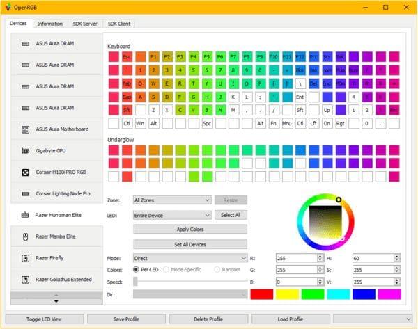 Como instalar o app de controle de iluminação RGB OpenRGB no Linux
