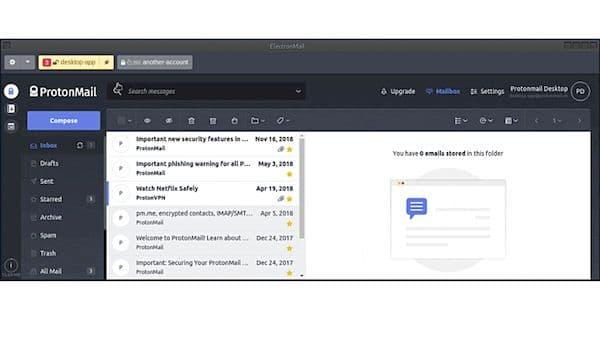 Como instalar o cliente ProtonMail ElectronMail no Linux via Flatpak
