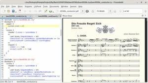 Como instalar o editor musical Frescobaldi no Linux via Flatpak