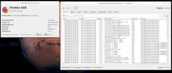 Como instalar o firewall OpenSnitch no Linux Ubuntu, Fedora, openSUSE e derivados