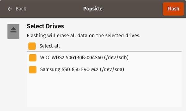 Como instalar o gravador de imagens Popsicle no Linux via Appimage