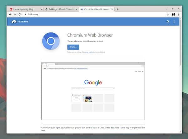 Como instalar o navegador Chromium no Linux via Flatpak