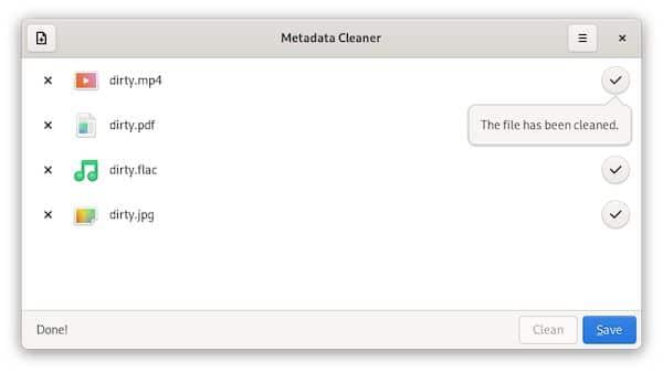 Como instalar o utilitário Metadata Cleaner no Linux via Flatpak