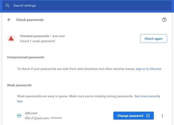 Google Chrome irá alertar quando a senha usada for fraca