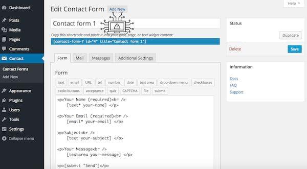 Plugin do WordPress Contact Form 7 tem uma vulnerabilidade crítica