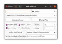 Como instalar o gravador de tela Blue Recorder no Linux via Snap