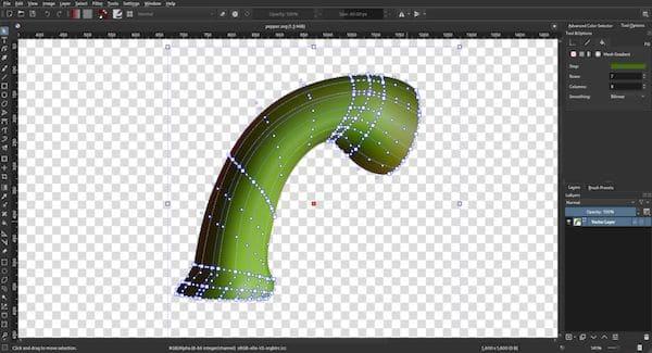 Krita 4.4.2 lançado com gradientes e transformações de malha, e mais de 300 alterações