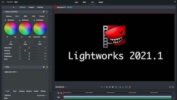Lightworks 2021.1 lançado com suporte para o macOS 11 Big Sur e mais