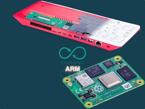 openSUSE Tumbleweed ARM agora suporta o Raspberry Pi 400 e 4 CM