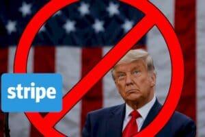 Stripe também suspendeu seus serviços para Donald Trump