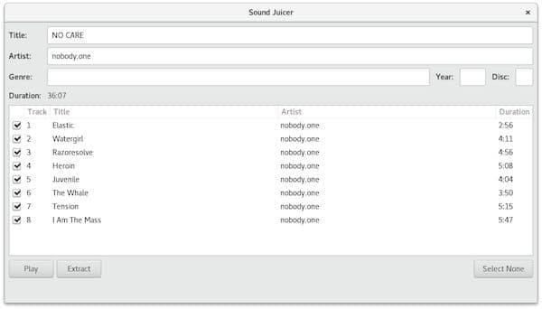 Como instalar o ripador de mídias Sound Juicer no Linux via Flatpak
