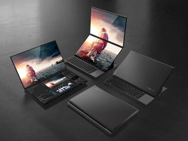 Conheça o Compal Envision Duo e Envison Pro, os laptops com tela dupla (conceito)