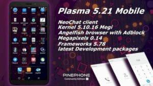 KDE Plasma 5.21 no PinePhone já é possível com o Manjaro Linux ARM