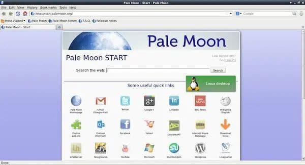 Pale Moon 29 chegou dizendo adeus à arquitetura x32