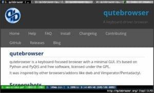 Qutebrowser 2.0 lançado com um bloqueio de anúncios da Brave e mais